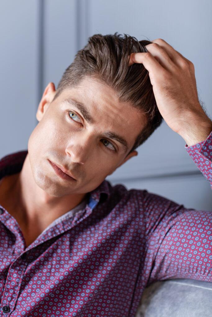cheveux homme apres greffe capillaire